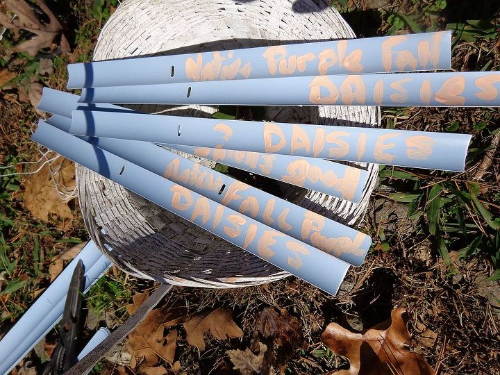 upcycled plant markers, gardening, repurposing upcycling