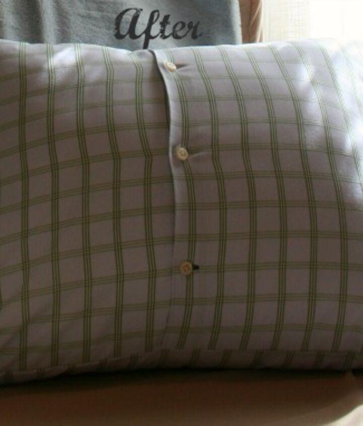 shirt pillow, crafts, repurposing upcycling