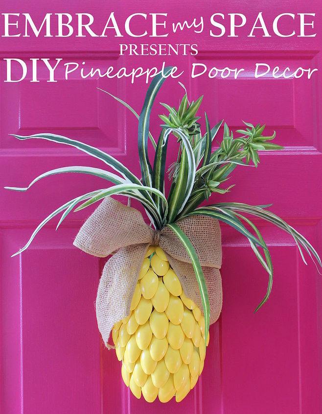 diy pineapple for your front door, crafts, doors, seasonal holiday decor