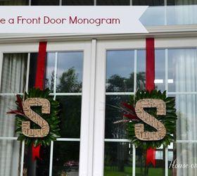 how to make a front door monogram crafts decoupage seasonal holiday decor & How-To Make a Front Door Monogram | Hometalk