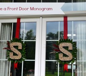 Charmant How To Make A Front Door Monogram, Crafts, Decoupage, Seasonal Holiday Decor ,
