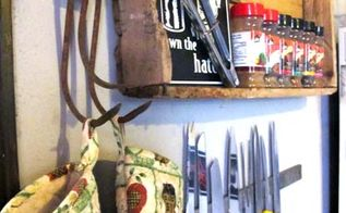 junkin around the house take 1, doors, home decor, repurposing upcycling, one old garden tool head holds my oven mitts I ll be making a few of these albums Ideas to fab and old junk you likely have laying around your own house Of course this is another example of what you ll see spewing from our face