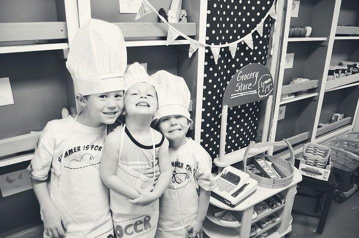 grocery store, DIY, kid, child, kids, #hometalktuesday, #repurpose, #upcycle #anestforallseasons #amyrenea #design #decor