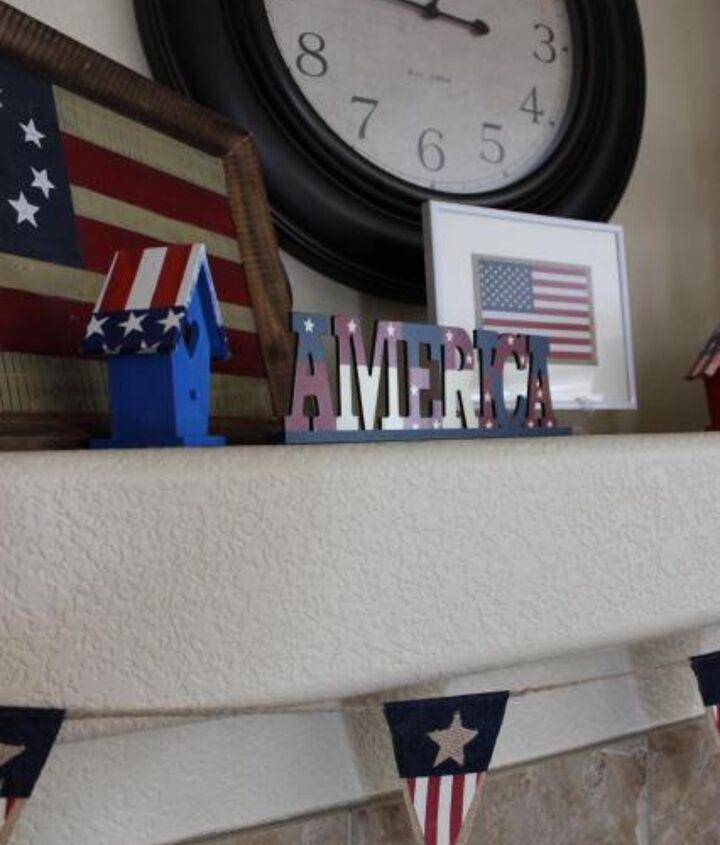 4th of july mantel, fireplaces mantels, patriotic decor ideas, seasonal holiday d cor