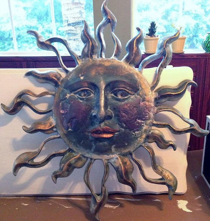 Painted sun to use in bedroom