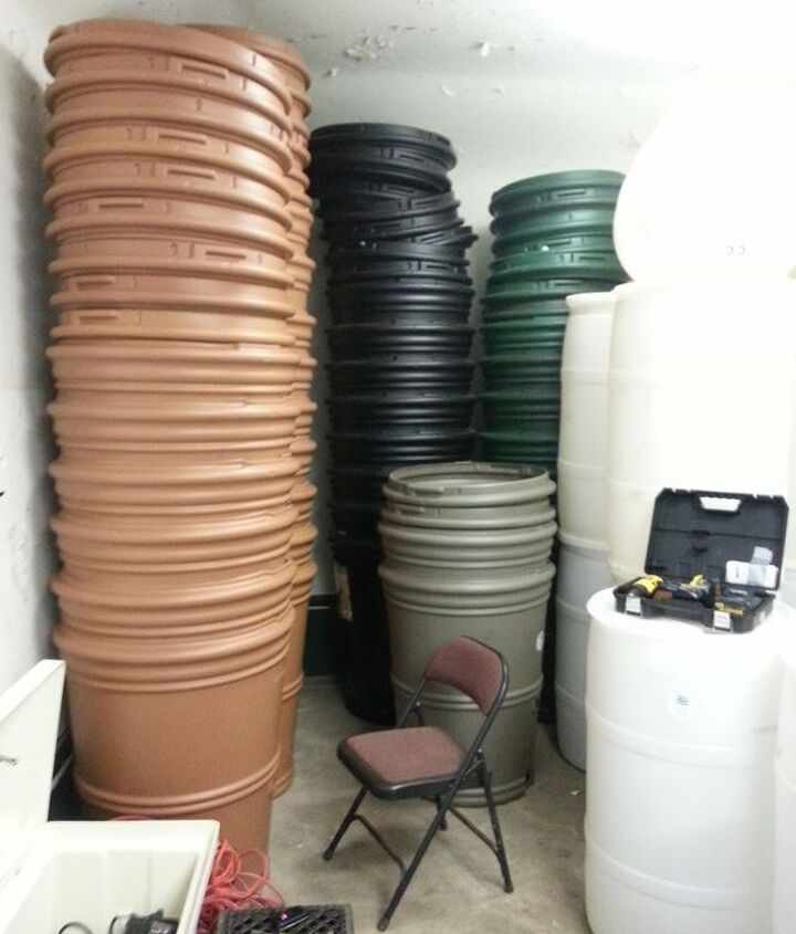 selection of barrels at local conservancy Blue Water Baltimore.