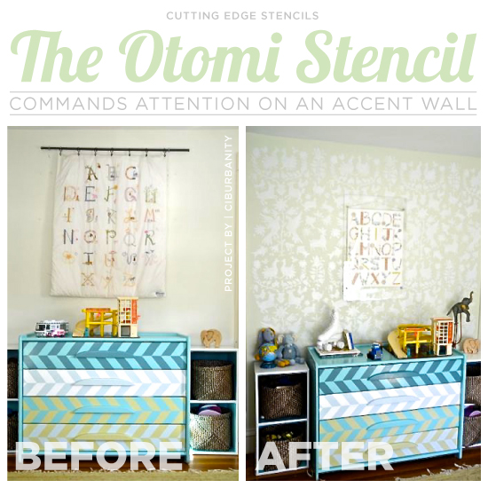 the otomi stencil commands attention on an accent wall, bedroom ideas, home decor, wall decor