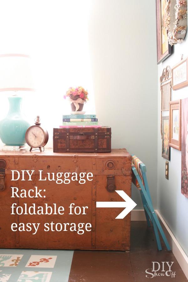 Getting Guest Ready With a DIY Luggage Rack. | Hometalk