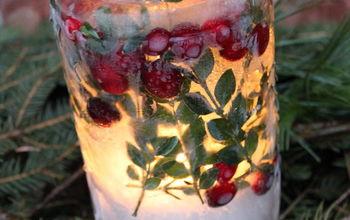 winter ice lanterns, crafts, Ice Lantern