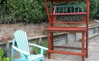 potting bench, gardening, The bench with chair spindle rail etc