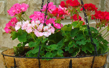 how to cut a hanging basket liner and get a perfect fit, flowers, gardening
