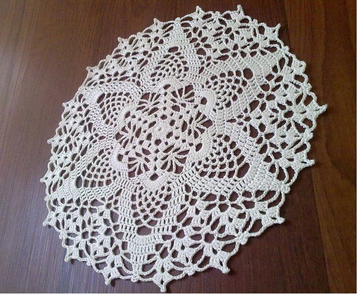 White Round Crochet Doily Hometalk