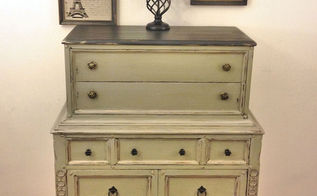 revamped antique dresser, chalk paint, painted furniture, repurposing upcycling, rustic furniture