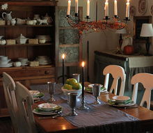 farmhouse halloween dining room, dining room ideas, halloween decorations, seasonal holiday decor