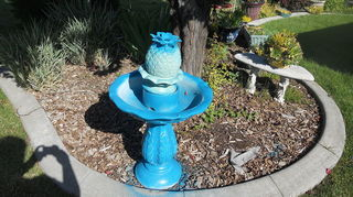 q how to paint my resin fountain, painting