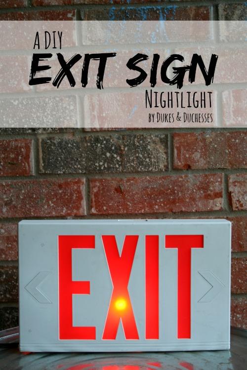 a diy exit sign nightlight, diy, lighting, repurposing upcycling