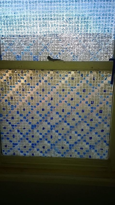 Another pattern.   I Apply the contact paper directly to the window.  It pulls off cleanly.  And is also reusable.