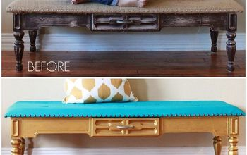 Makeover an Old Coffee Table Into a Bench