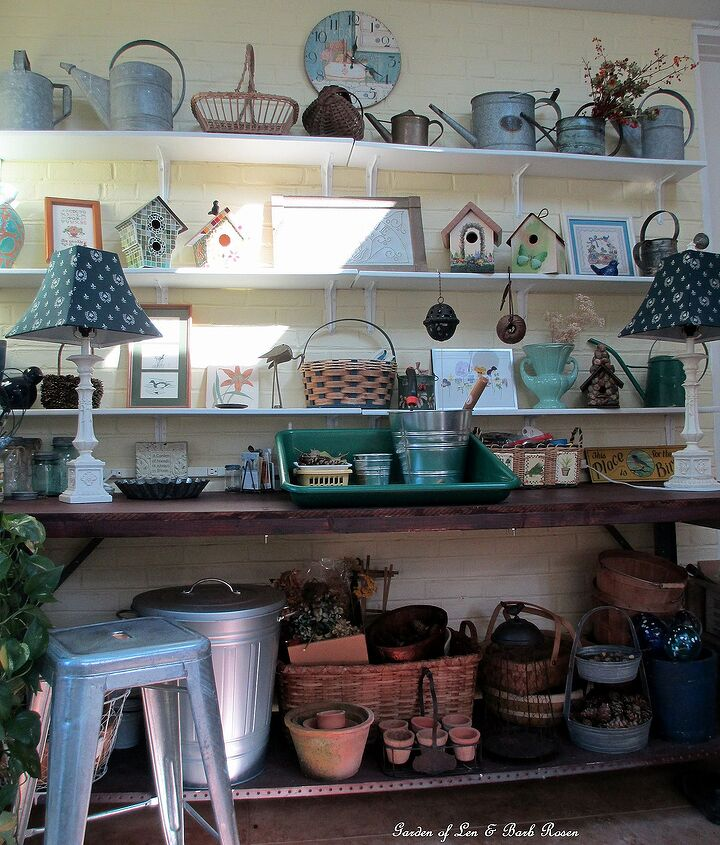Sorted, put away, dusted and tidy potting bench !