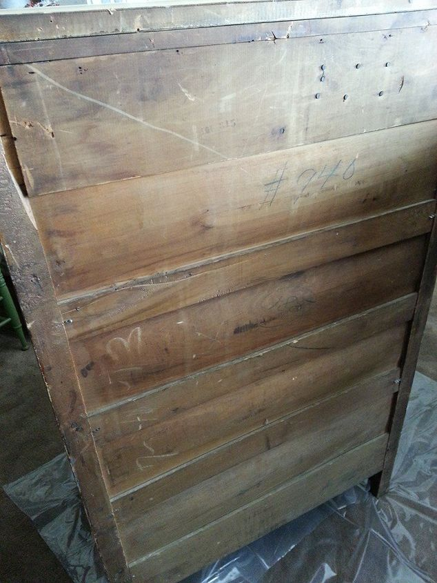 antique dresser upcycle, painted furniture, The back I washed with a thin  layer of - Antique Dresser Upcycle Hometalk