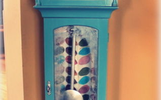 grand mother clock redo, home decor, painted furniture
