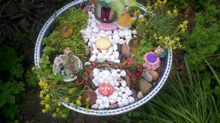 q teeny tiny little gnome home garden, gardening