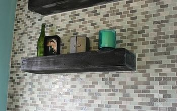 DIY Glass Tile Accent Wall in Master Bathroom