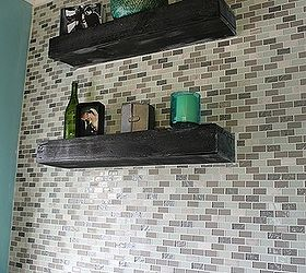 Diy Glass Tile Accent Wall In Master Bathroom, Bathroom Ideas, Home Decor,  Tiling Part 38