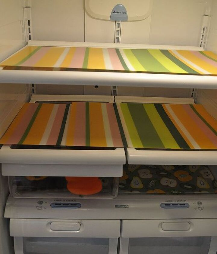 Fit placemats onto shelves. Cut or layer them! Installation is easy!