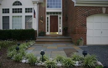 Front Entrance Remodel With Flagstone Over Lay