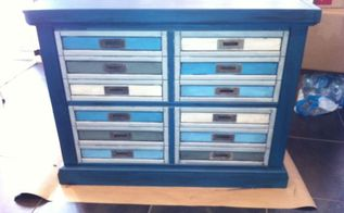 file cabinet re purpose into a mock printer s cabinet for storage, painted furniture, repurposing upcycling, storage ideas, After