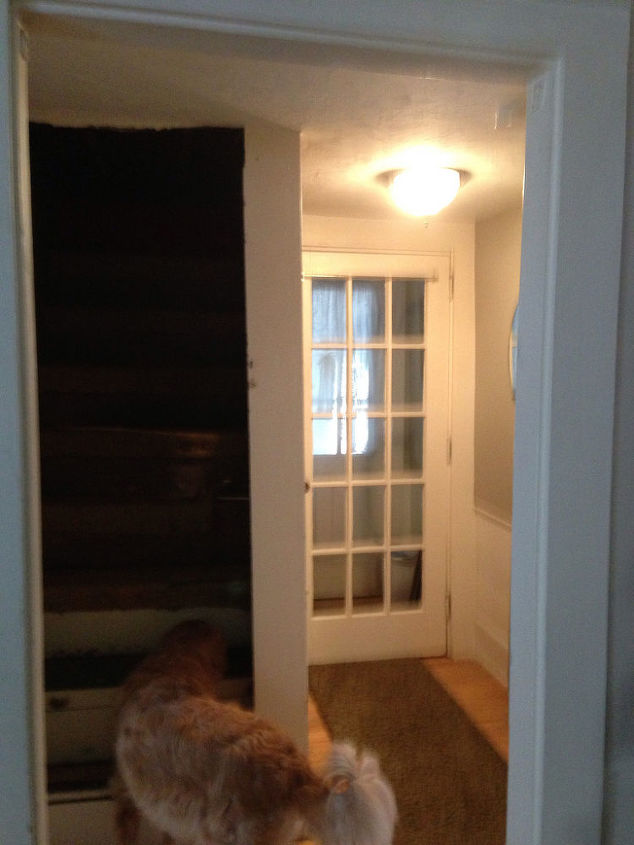 hallway reno on 1778 farm house, foyer, home decor, wall decor, woodworking projects