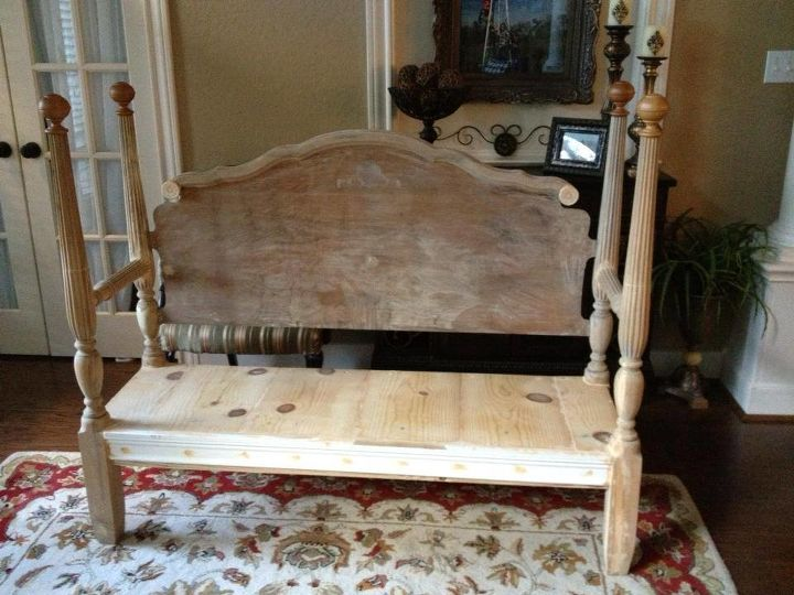 my version of the headboard bench, diy, painted furniture, repurposing upcycling, woodworking projects, Curb Alert Headboard Bench Ready to paint
