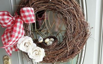spring front door wreath, crafts, seasonal holiday decor, wreaths