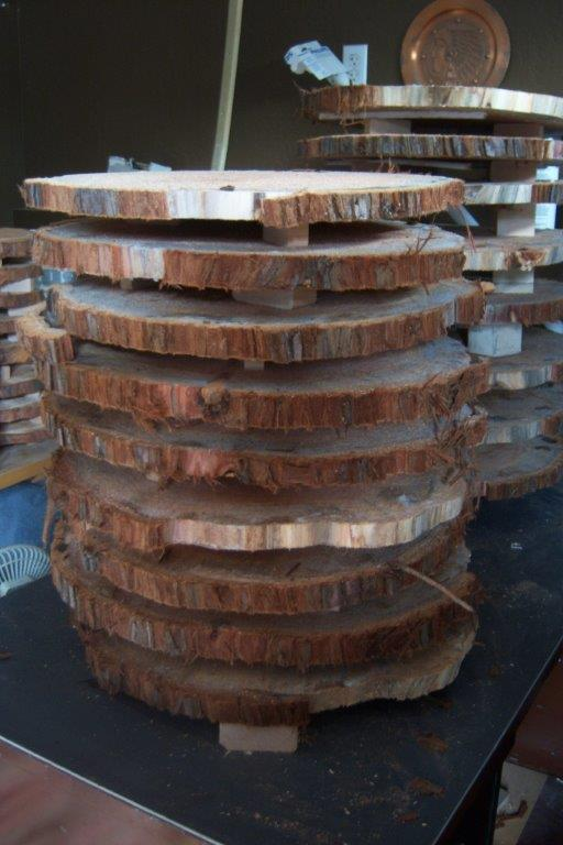 burl floor handmade, diy, flooring, woodworking projects, The boards stacked up