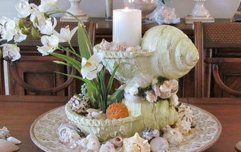 Sea Shell Centerpiece Beach Tablescape