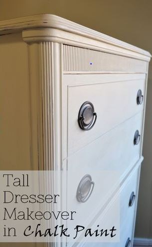 tall dresser makeover in chalk paint, chalk paint, painted furniture