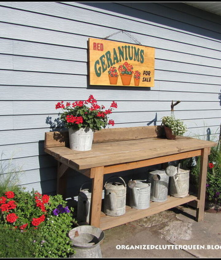 Right side of potting bench.