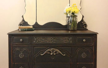reimagined vintage dresser, chalk paint, painted furniture