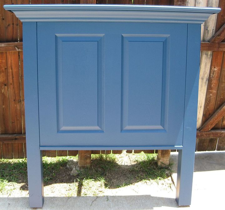 Door headboard for a twin size bed.