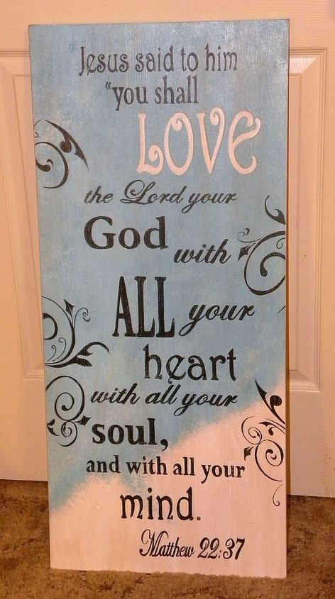 LOVE by GranArt , painted sign using craft enamel paint on wood.