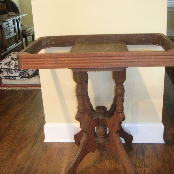 Old Eastlake mahogany table without a top.