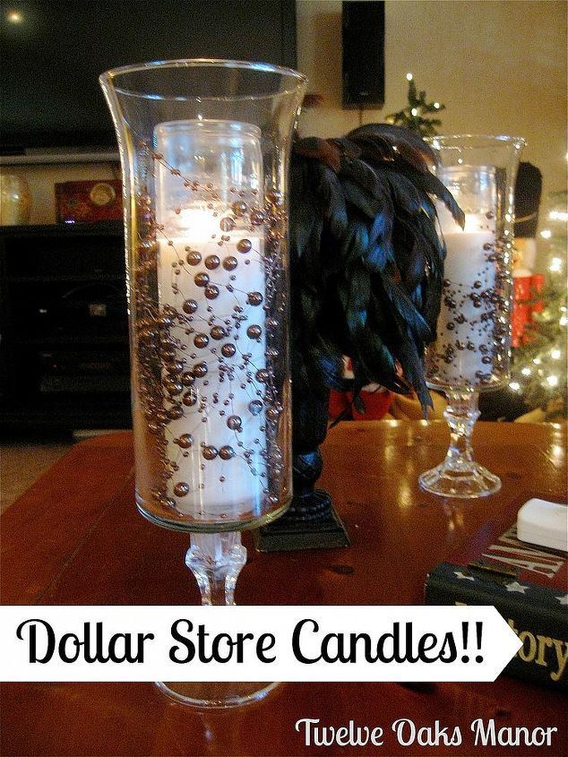 Dollar Store Candle Holder!
