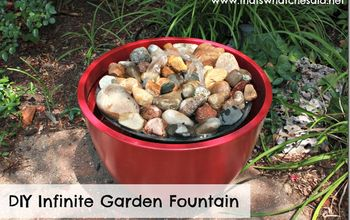 Create an Infinite Garden Fountain for Your Backyard or Deck!
