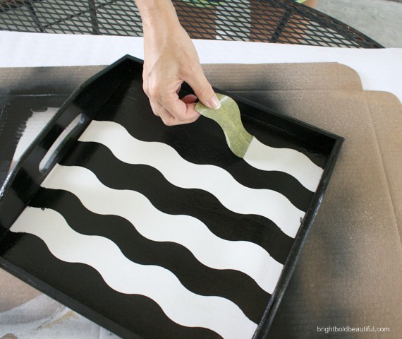 Remove the WAVE shape tape when completely dry. Voila!