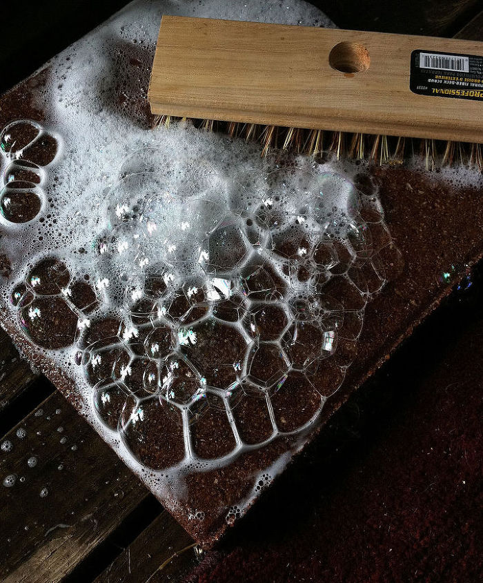how to make lace like stepping stones, crafts, gardening, outdoor living, Grab a stack of stepping stones scrub them well and allow them to thoroughly dry