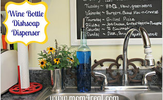 turn a wine bottle into a dish soap dispenser, crafts, repurposing upcycling