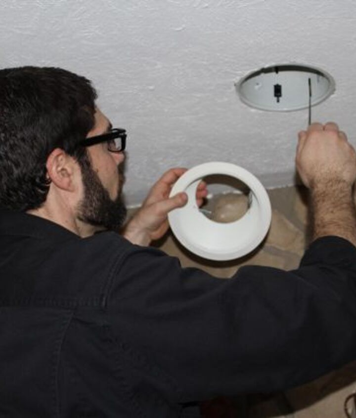 Find the joist direction by being like MacGyver. Investigate light fixtures and see how they're attached to the joist.