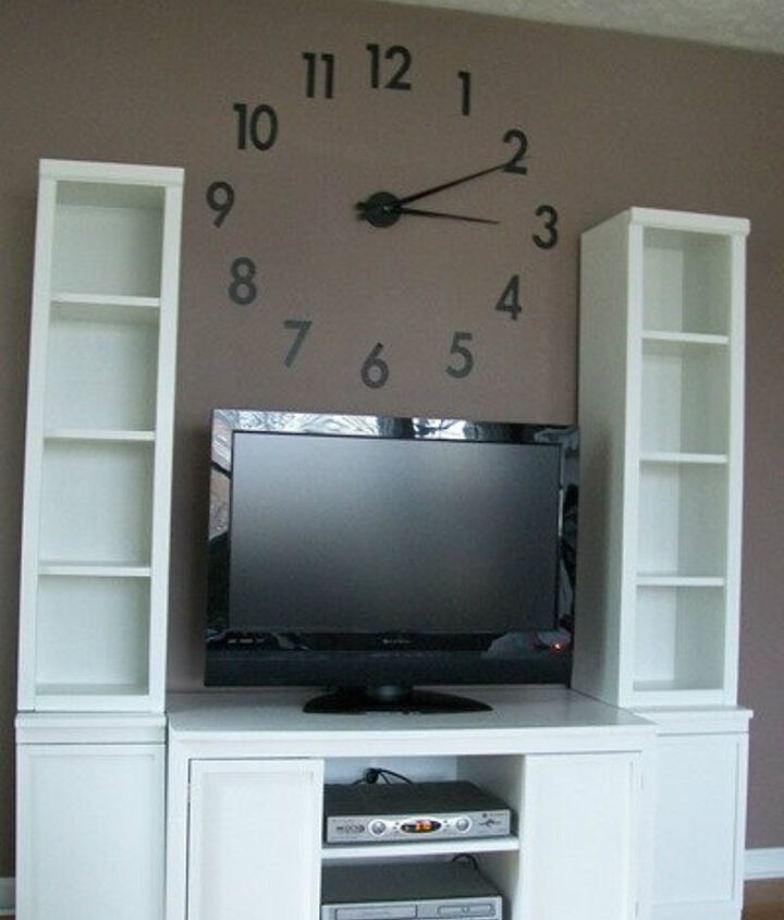 Using plans from Ana White, I built a custom sized media center to fit my space.