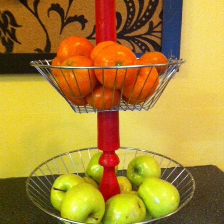 tiered wire basket, crafts, home decor, kitchen design, repurposing upcycling